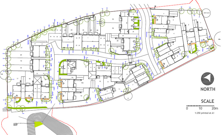 Eastington site plan