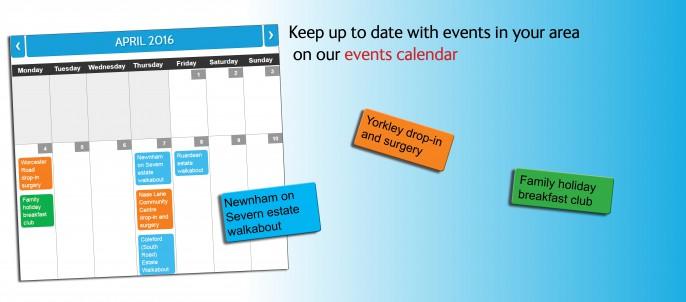 Events calendar carousel small