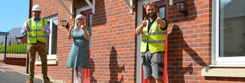 Two Rivers takes handover of new affordable homes in Tutshill